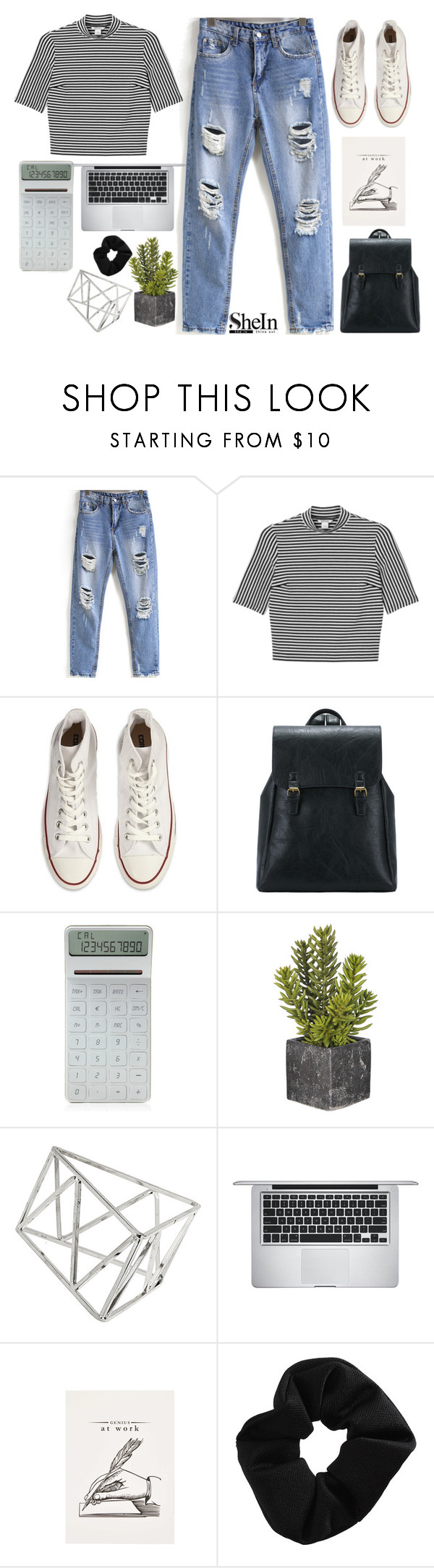 """""""#SheIn"""" by credentovideos ❤ liked on Polyvore featuring Monki, Converse, LEXON, Topshop and Apple"""