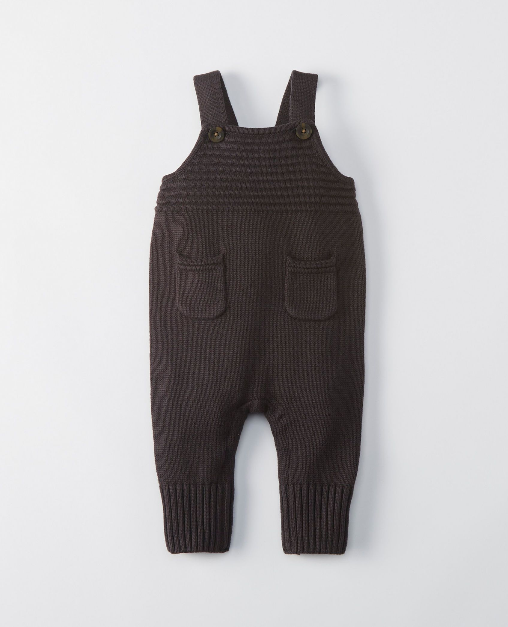 893d98ae7 Sweater Overalls In Organic Cotton in Soft Black - main
