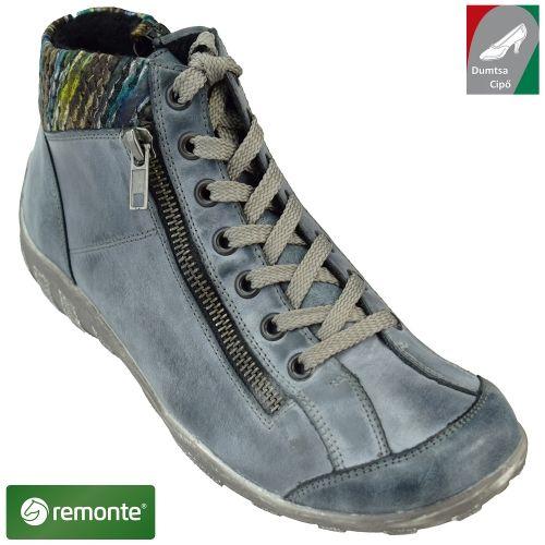 008362dde3 Remonte női bőr bokacipő R3456-14 antikolt kék kombi   Rieker cipő ...