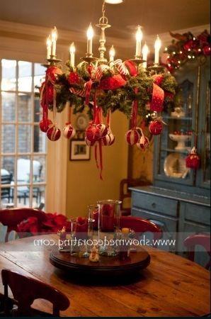 Ceiling Fan And Chandelier Indoor Christmas Decorations Indoor