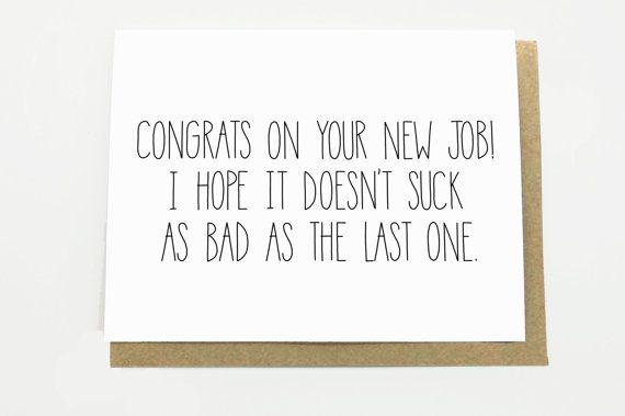 Funny New Job Congratulations New Job Card New Job Etsy Gluckwunsch Zum Neuen Job Neuer Job Job