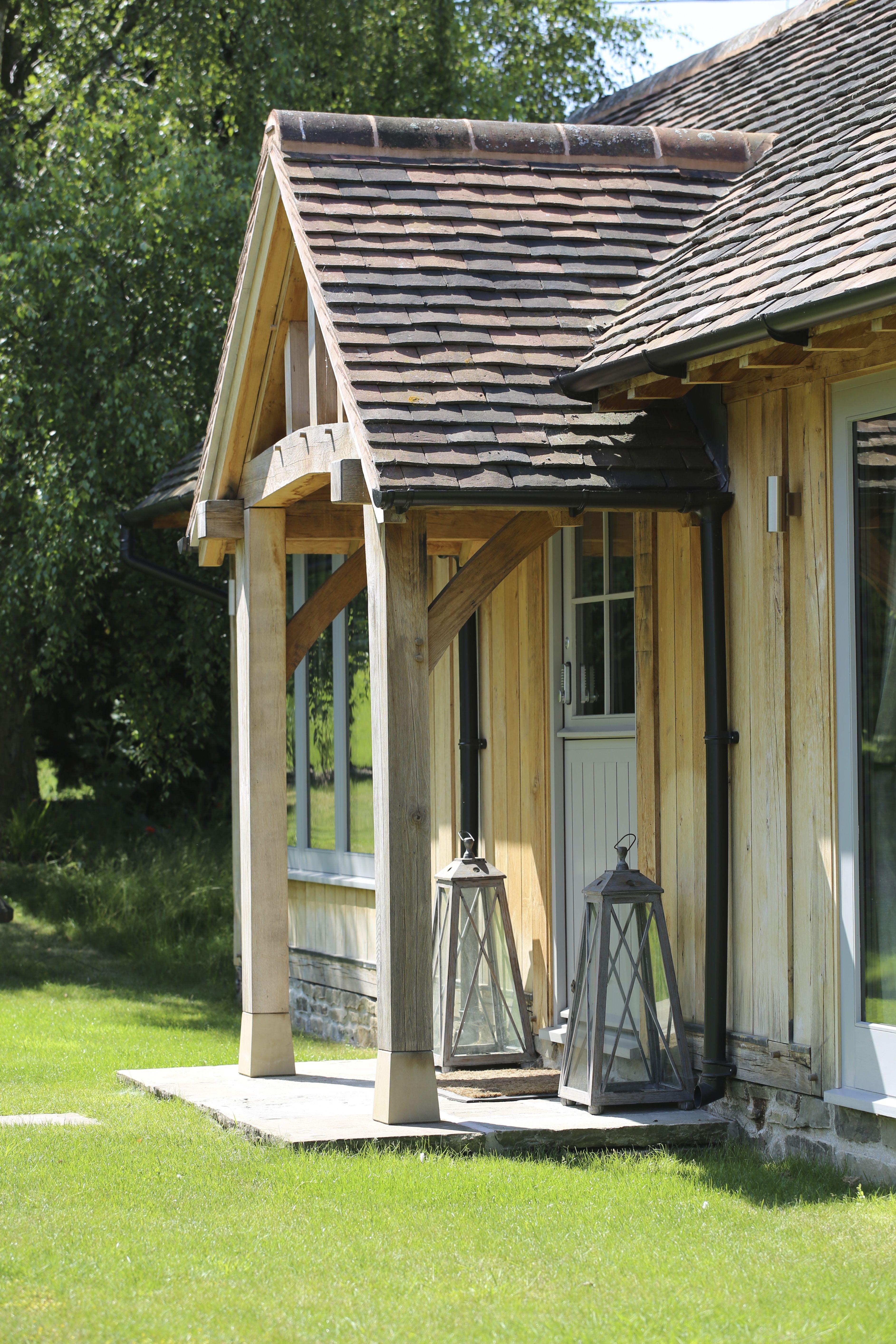 Stunning Oak framed porch on the front