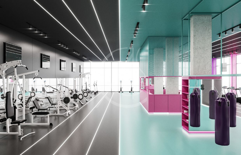 Ladies Fitness Center Interior Design Riyadh Saudi Arabia