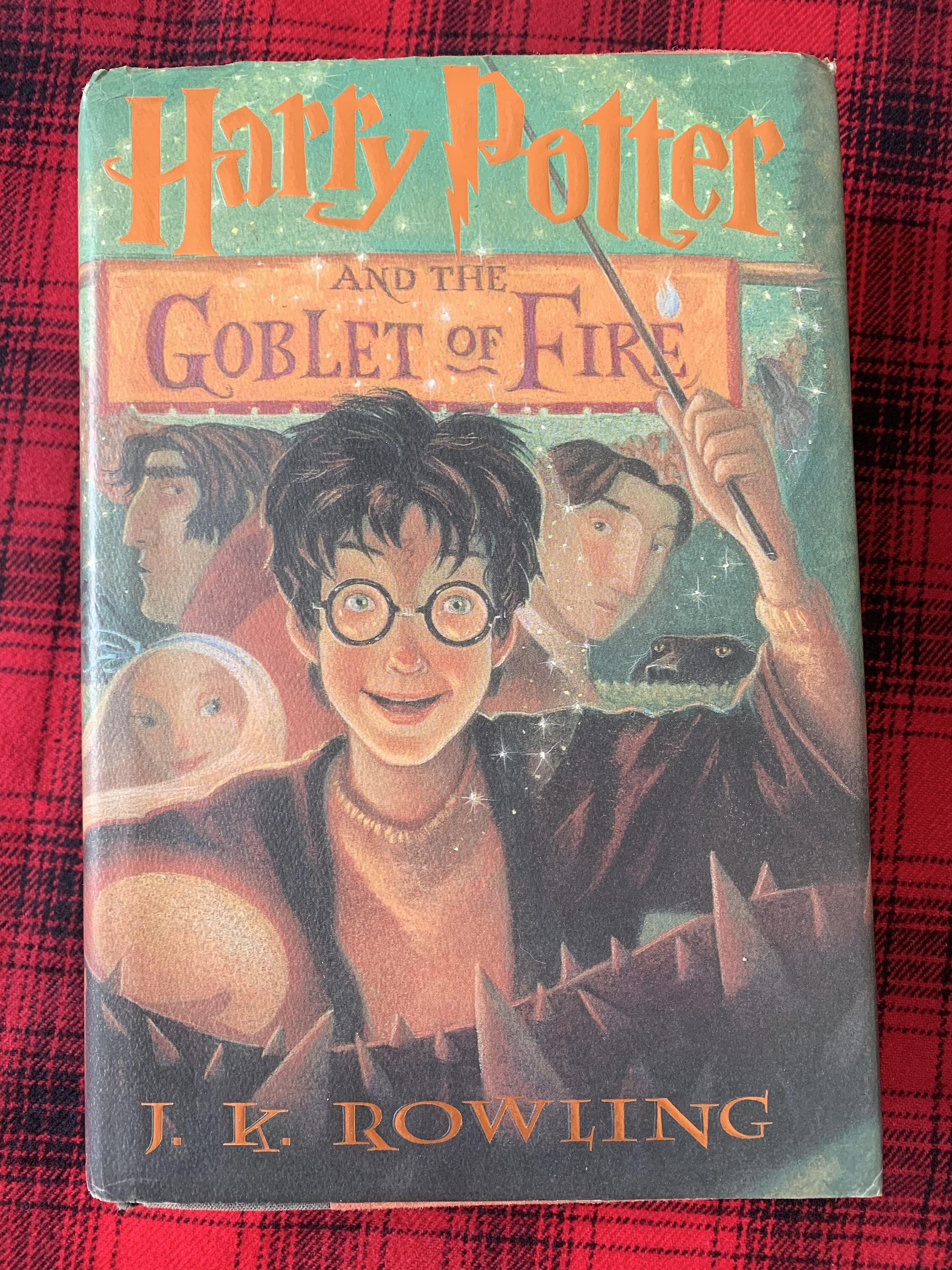 Harry Potter And The Goblet Of Fire J K Rowling Hardcover Etsy Little Golden Books Mysterious Events Potter