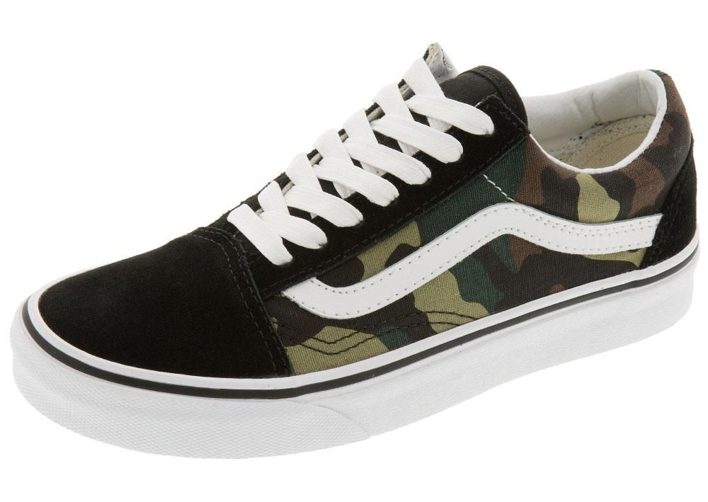 Vans Old Skool Woodland Camo Black Woodland | Vans old skool