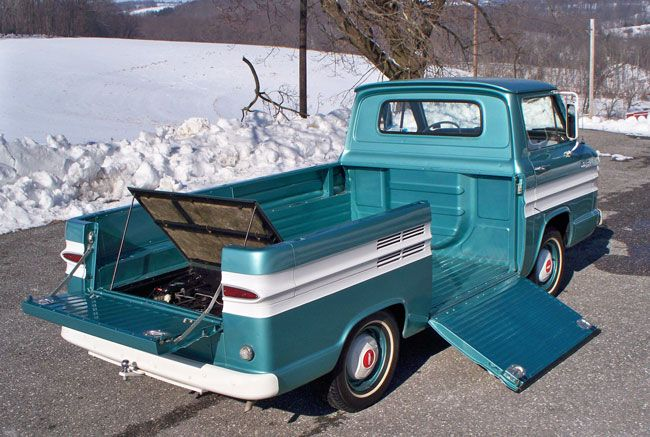 Car Of The Week 1964 Chevrolet Rampside Pickup Old Cars Weekly Chevrolet Classic Chevy Trucks Chevy Corvair