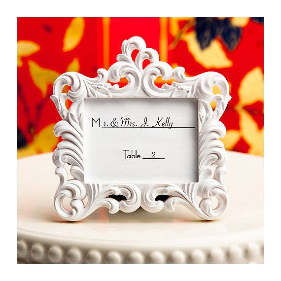Place Card Holder Frames 75 Set - Small White Picture Frame for ...