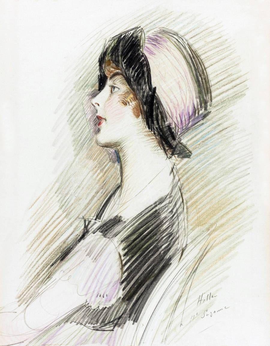 French artist Paul Cesar Helleu (1859-1927)