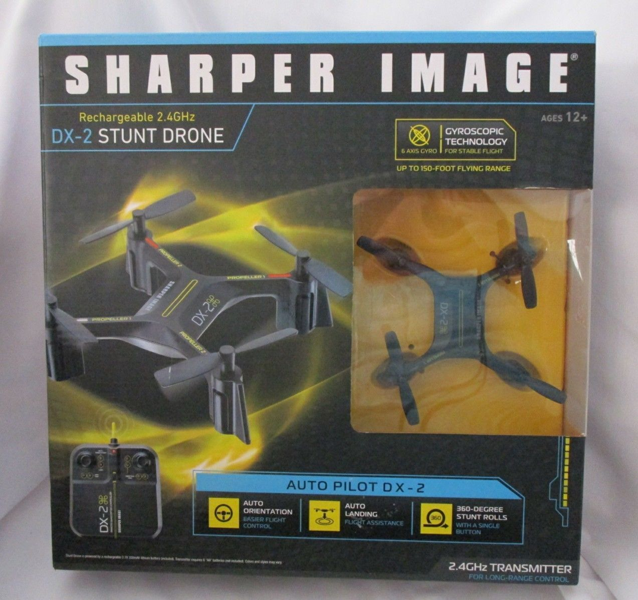 Sharper Image Dx 2 Rechargeable Stunt Drone 24ghz Remote Control Rc