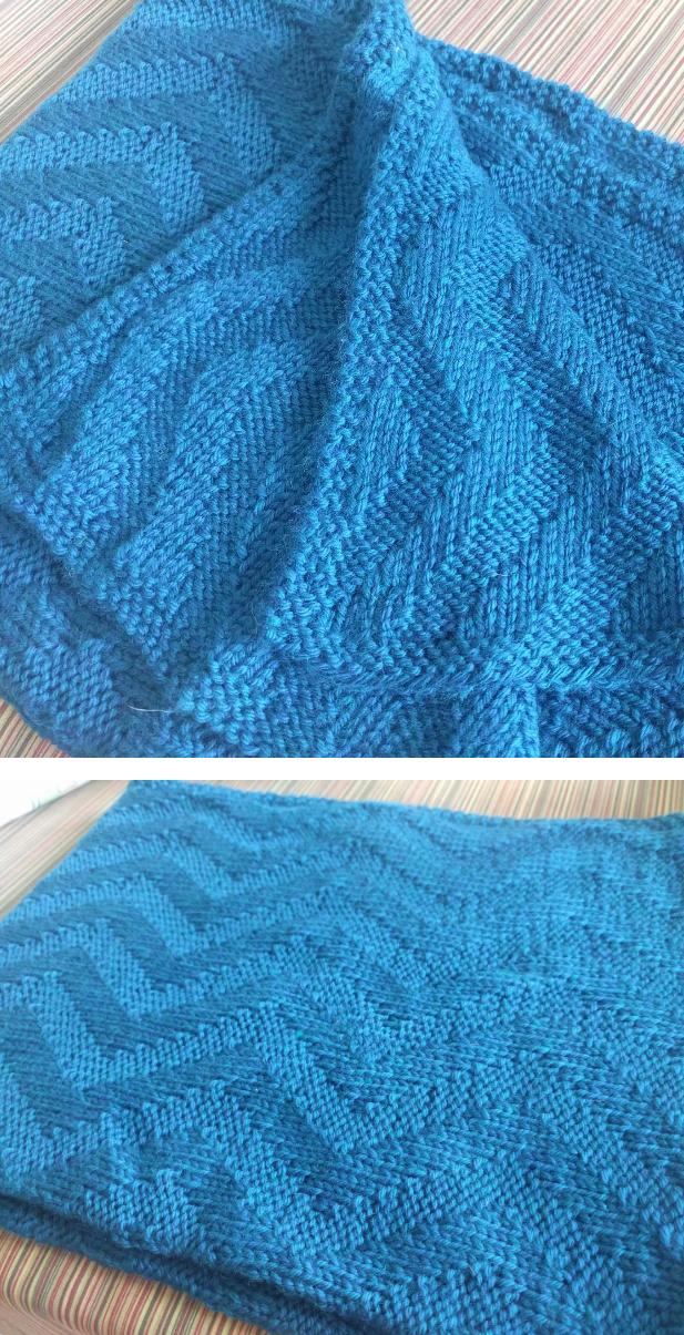 Free Knitting Pattern for Reversible Sunshine Chevron Baby Blanket ...