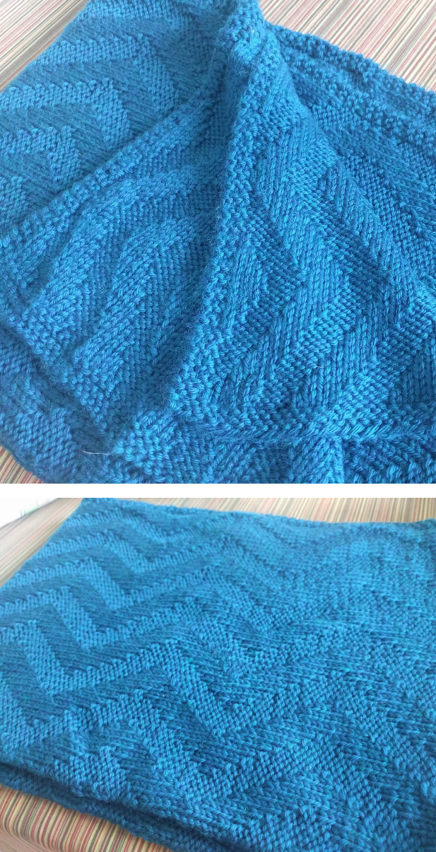 Free Knitting Pattern For Reversible Sunshine Chevron Baby