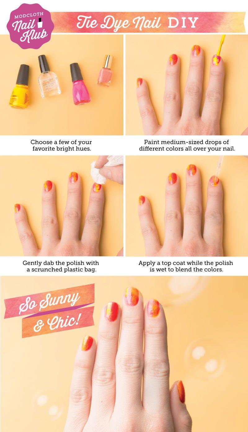 Diy Tie Dye Nails Nails Diy Craft Nail Art Summer Nails Nail Trends