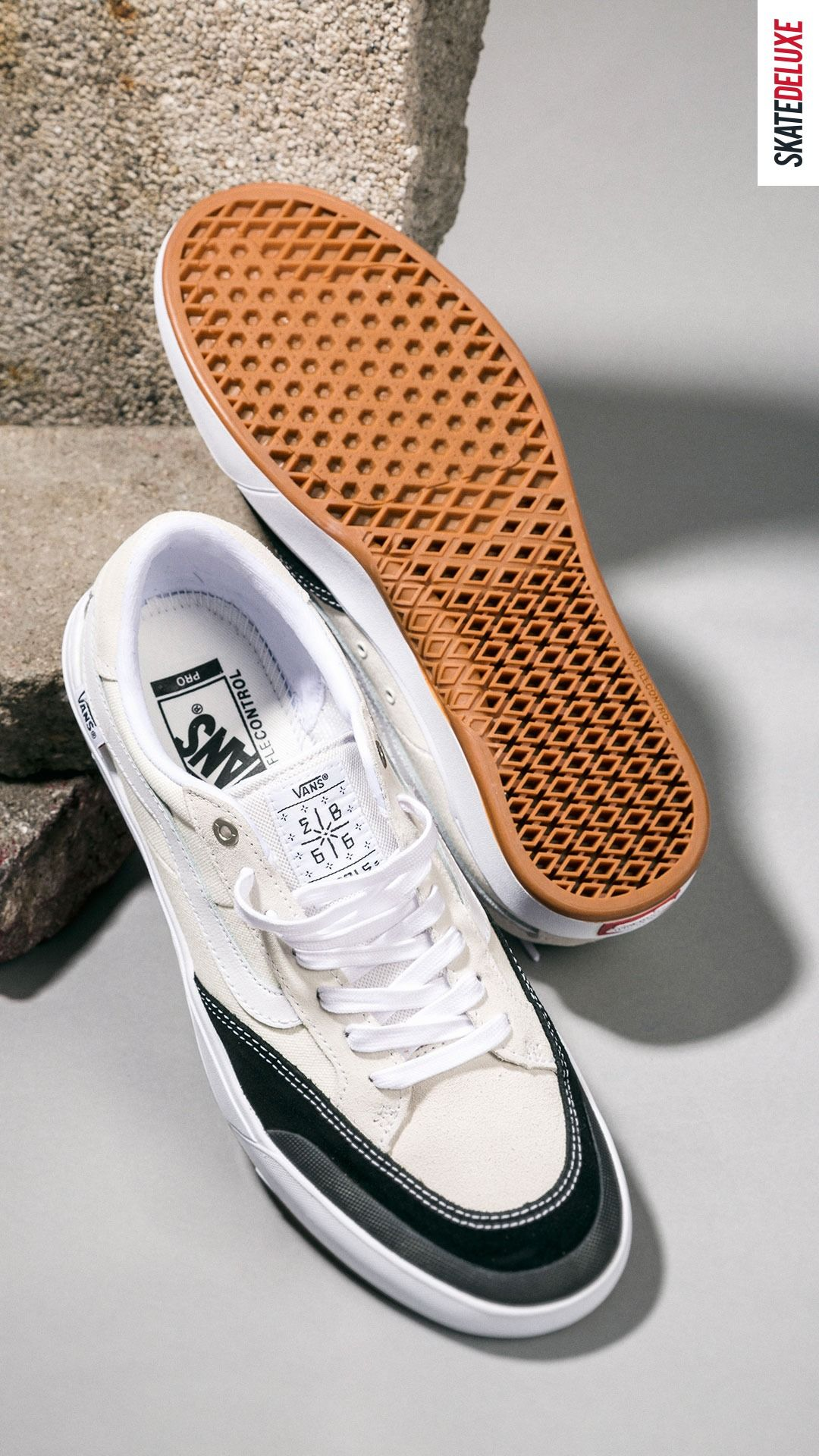 Vans Berle Pro Shoes (marshmallow black) in 2020 | Vans