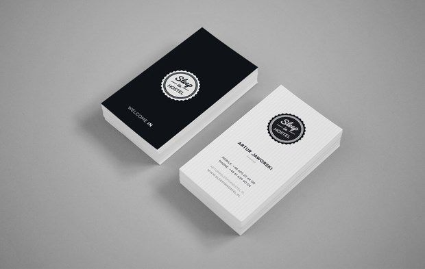 high contrast business card - Business Card Design Inspiration