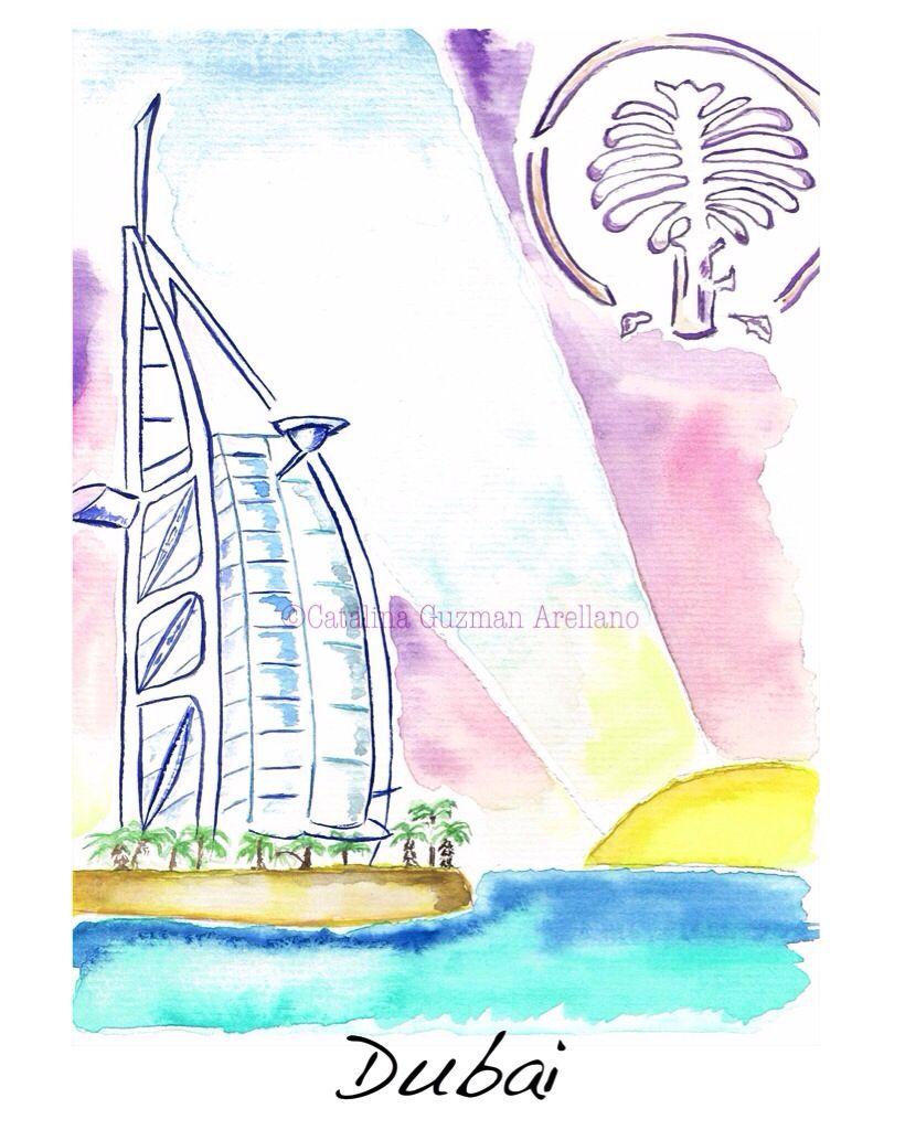 Coleccion Meseros De Boda Ciudades Cities Dubai Drawings Web Www Catalinaguzmanillustration Com Cities Dubai Ciudades