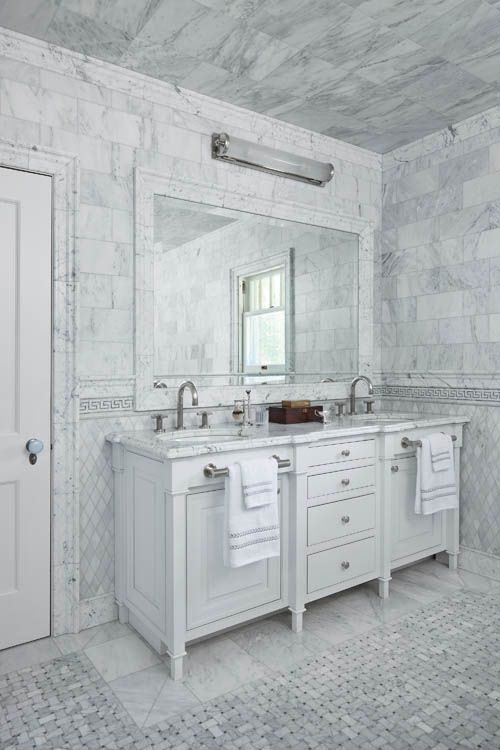 INTERIORS- Bath Under 150 Square Feet. Second Place: ART HARRISON INTERIORS WITH MILLENNIUM CABINETRY