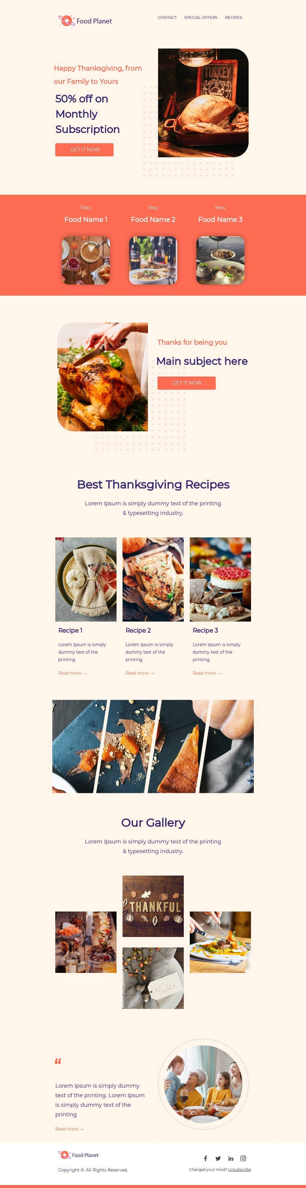 Template Bee Free In 2020 Email Template Design Email Design Best Thanksgiving Recipes
