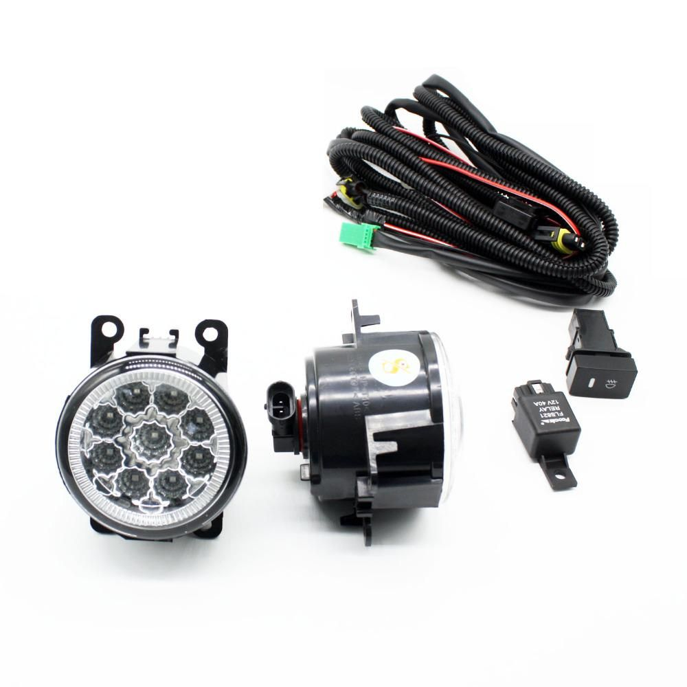 H11 Wiring Harness Sockets Wire Connector Switch 2 Fog Lights Drl Suzuki Vitara Front Bumper Led Lamp