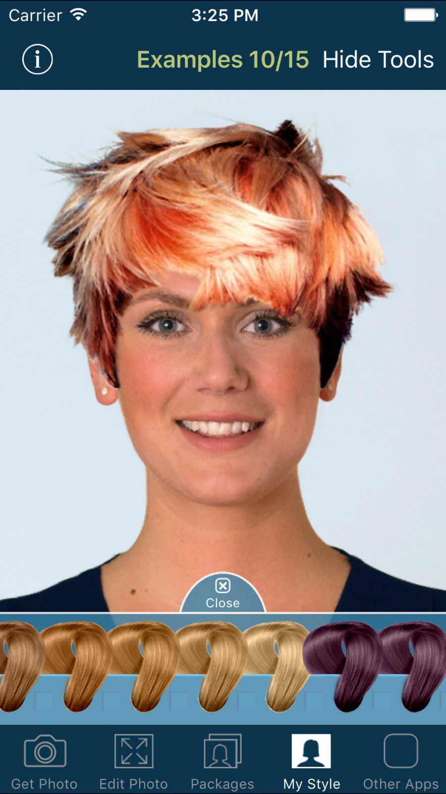 Hairstyle Try On Ios Entertainment App Apps Try On Hairstyles Hairstyle Hair Color Options