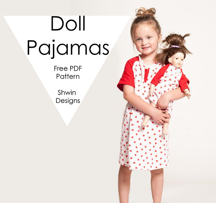 Doll Pajamas || Free PDF Pattern | Free Sewing Patterns/Dolls ...