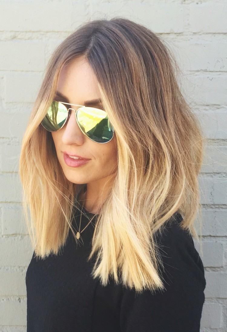 Ombre blond für braune und blonde haare färbetechniken im trend