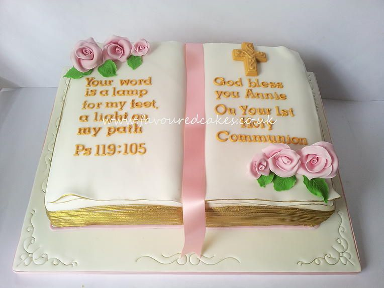 Bible 1st Holy Communion Girls Cake Google Search Christening