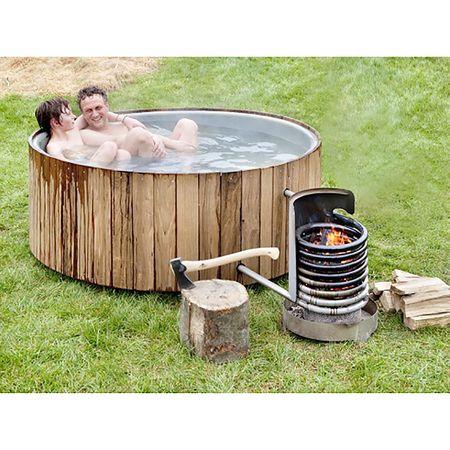 Outdoorbad mit Holz 'Dutchtub Wood'