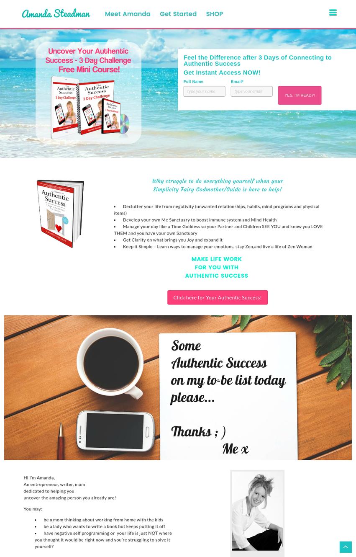 Amanda Steadman new web design :) we had a pleasure to work with amanda