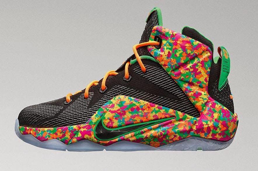 238c78898de THE SNEAKER ADDICT  Nike LeBron 12  Cereal Fruity Pebbles Sneaker Avai.
