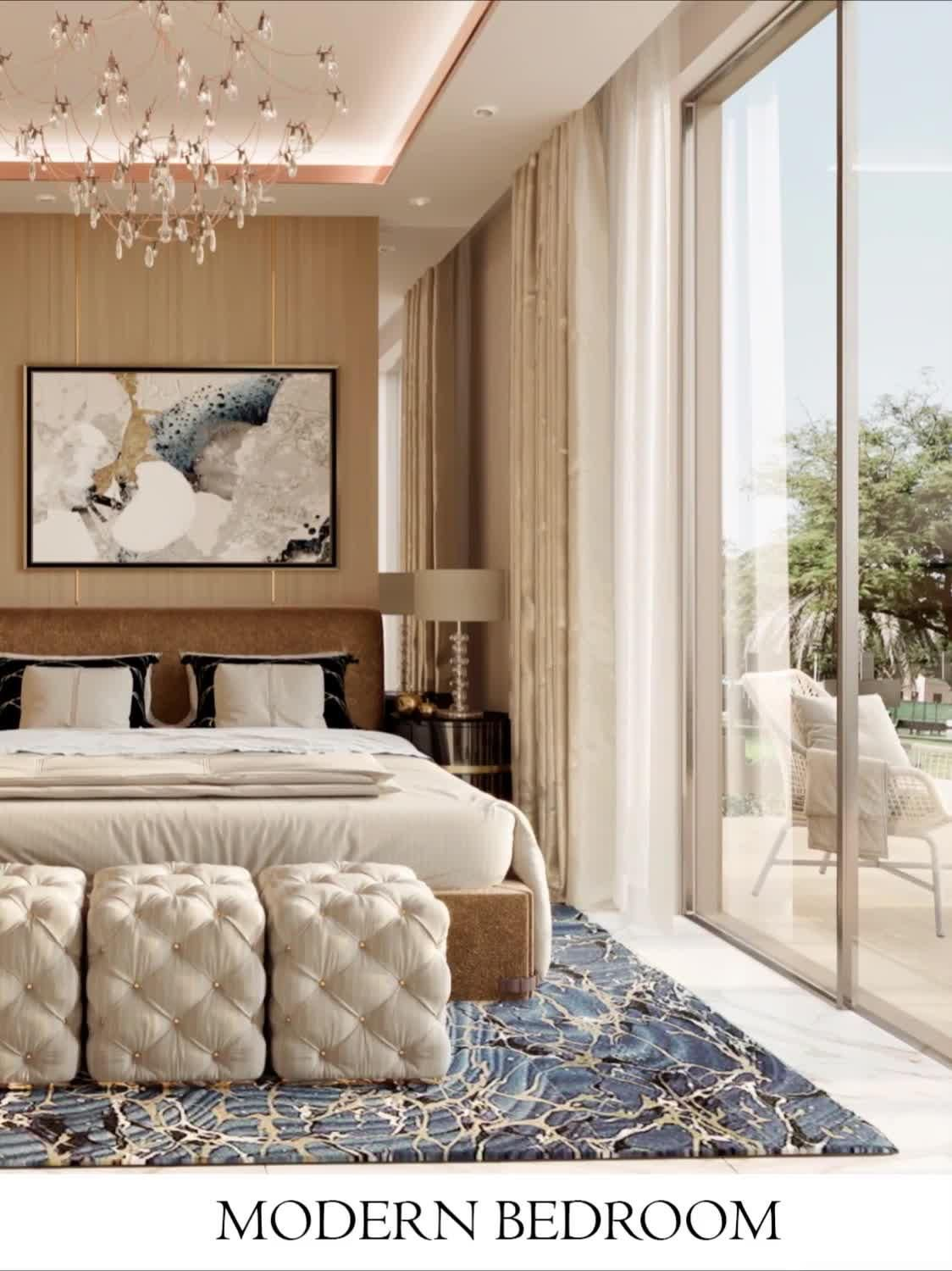 it is a luxury large bedroom interior videos by Fancy designers