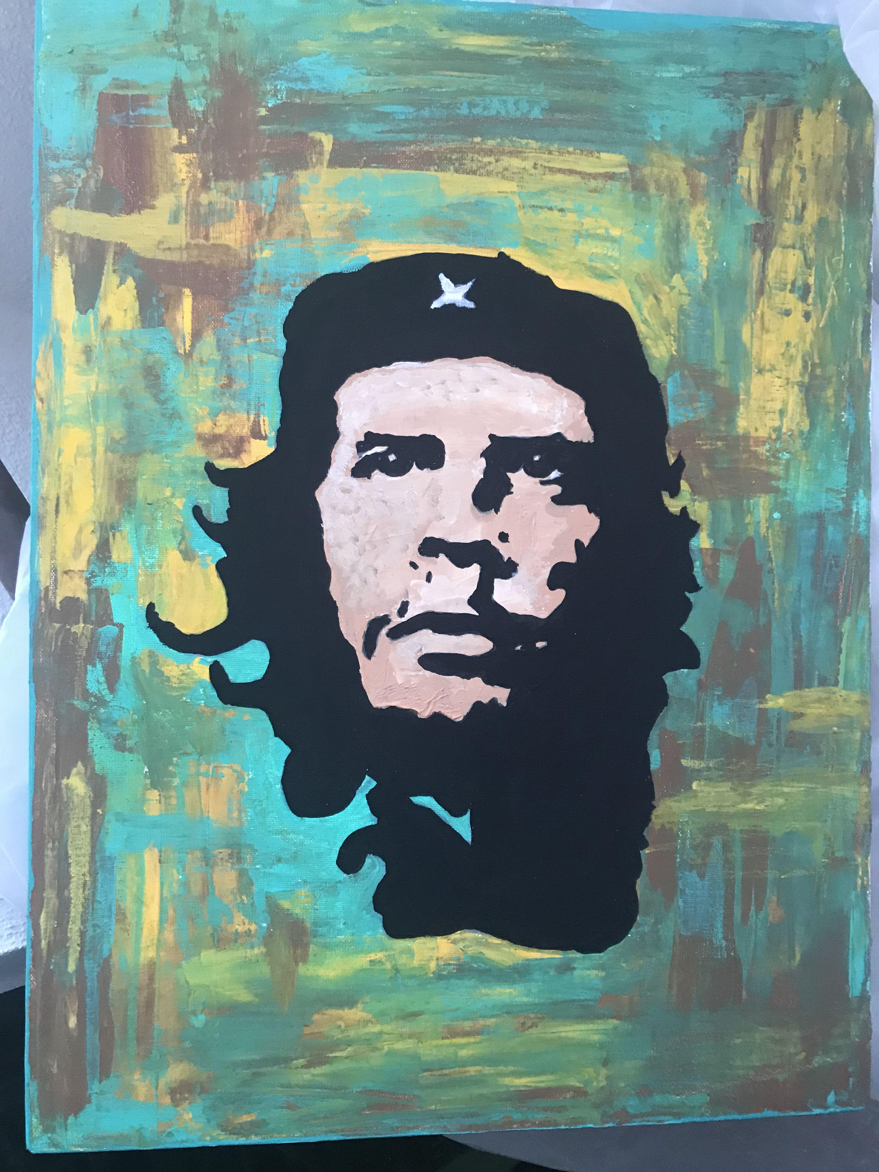 Ernesto Che Guevara Acrilico Con Espatula 40x30 Che Guevara Ernesto Che Guevara Espatula