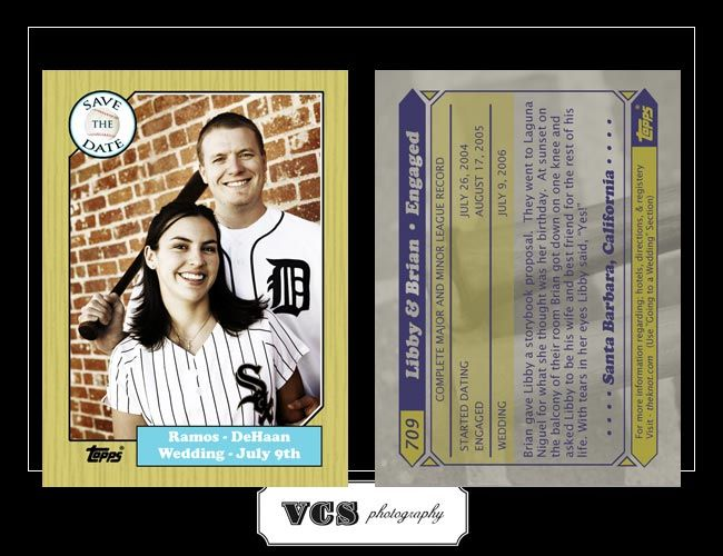 vintage baseball card save the date save the date july 9th