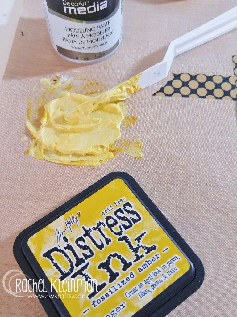 Distress inks, modelingpaste