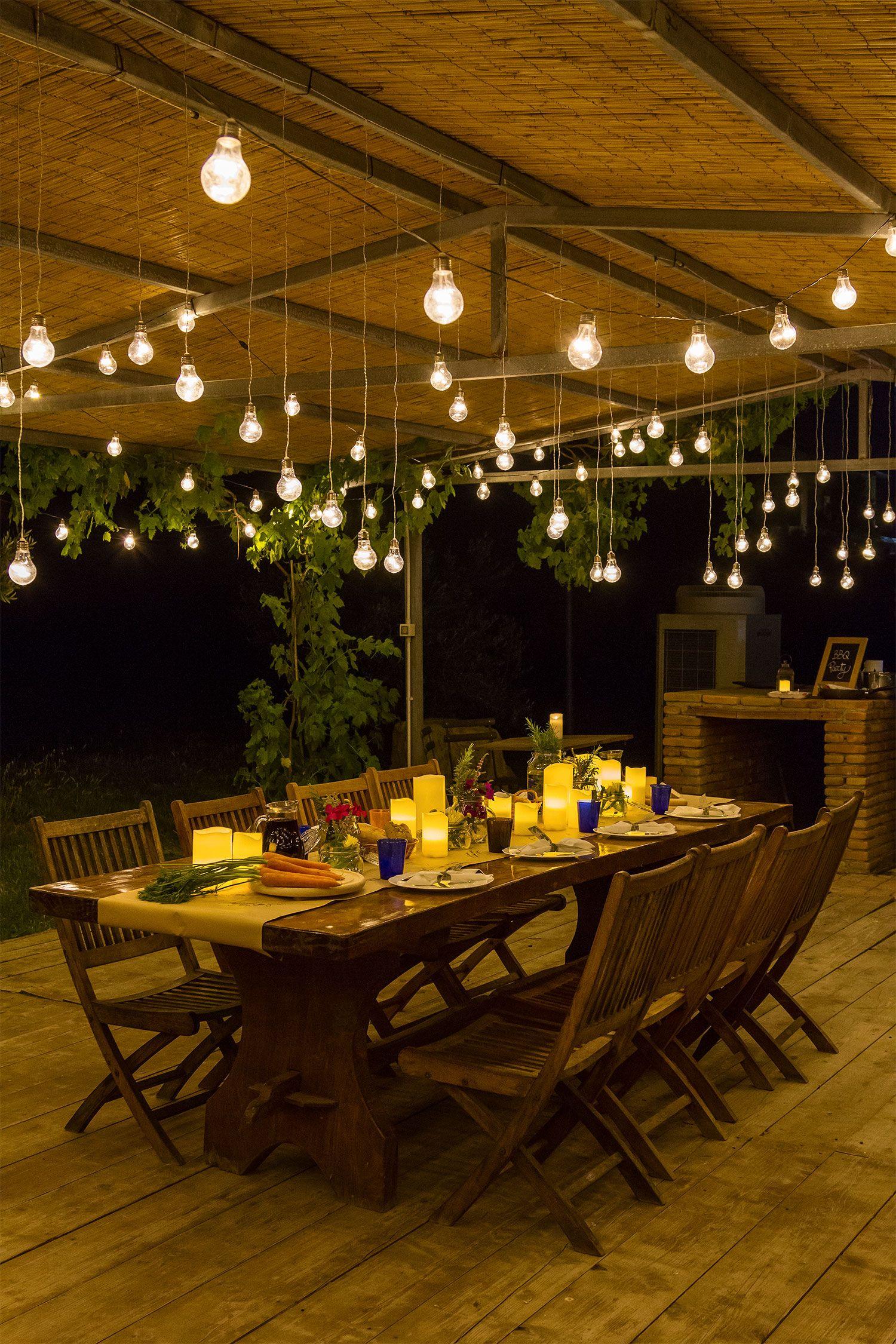 4 stili per la tua festa in giardino | Luci per giardino e terrazzo ...