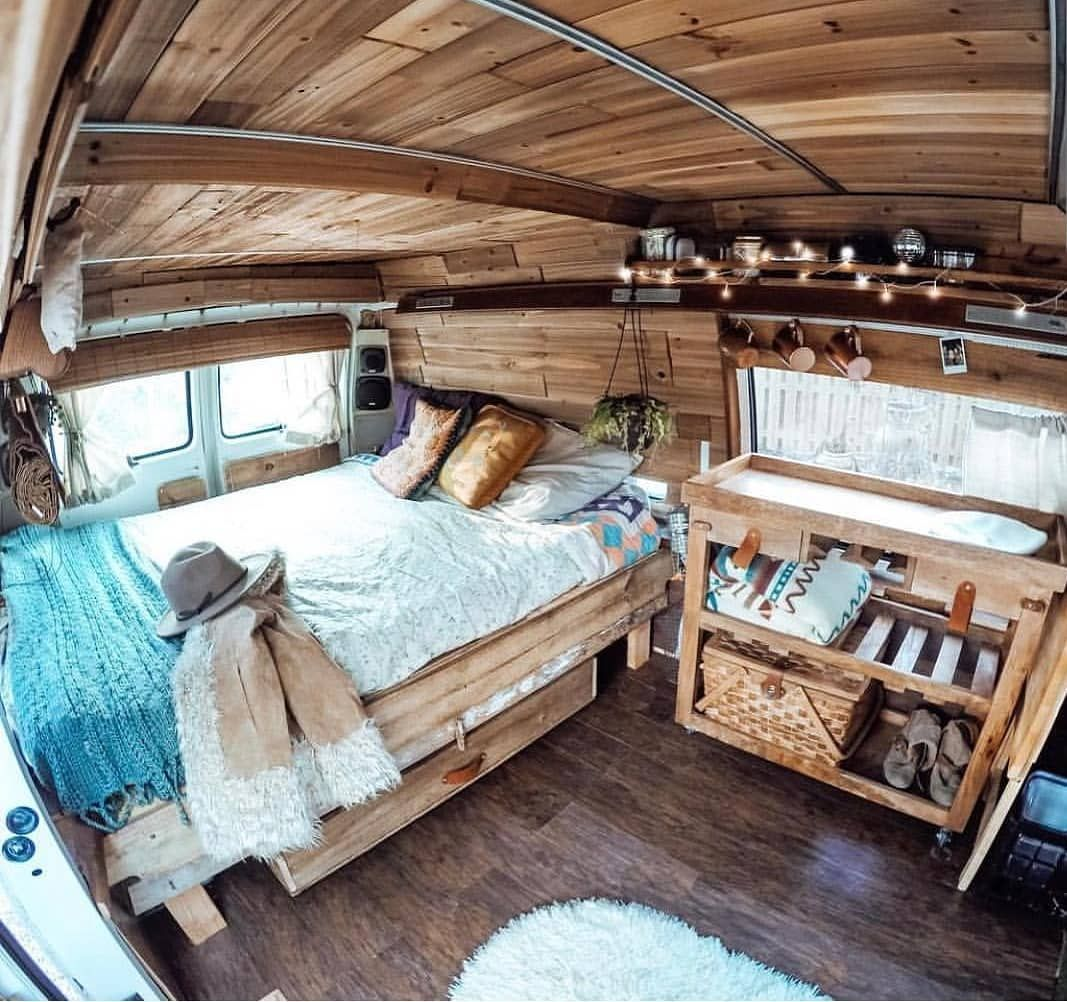 10 Camper Van Bed Designs For Your Next Van Build: Pin By Charmaine Bonfantini On Camper Curtains