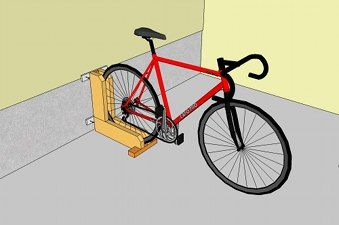 quick and simple bike rack mario abri v lo range velo bicyclette. Black Bedroom Furniture Sets. Home Design Ideas