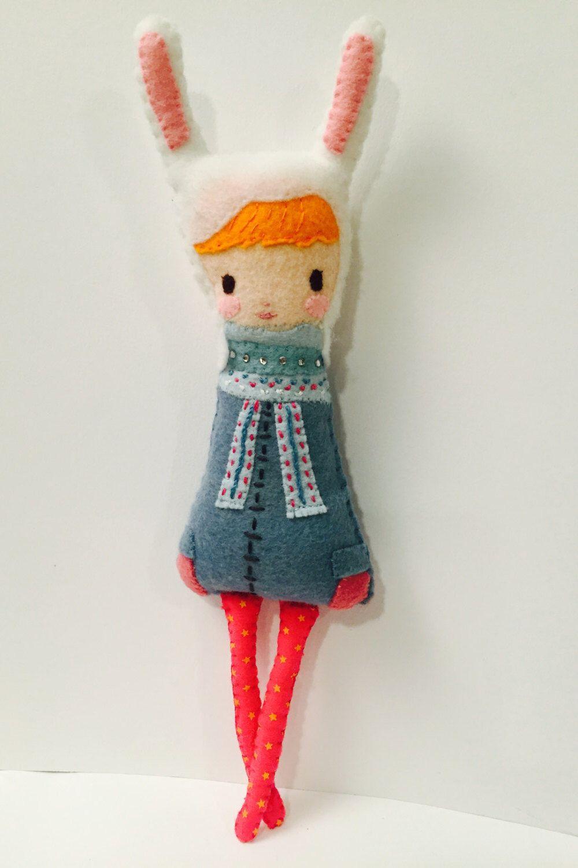 Rabbit Girl Plushie. Softie. Bunny