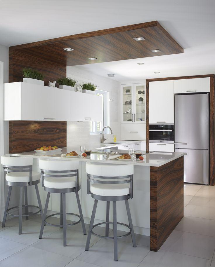 armoires de cuisine contemporaine en merisier et bois de rose simard cuisine et salle de bains - Salle De Bain Contemporaine Bois