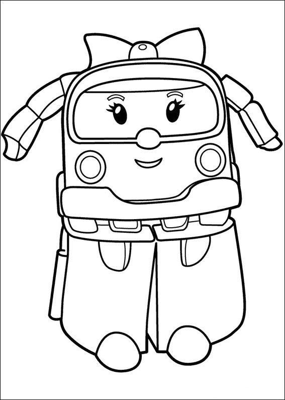 Dibujos para Colorear Robocar Poly 4