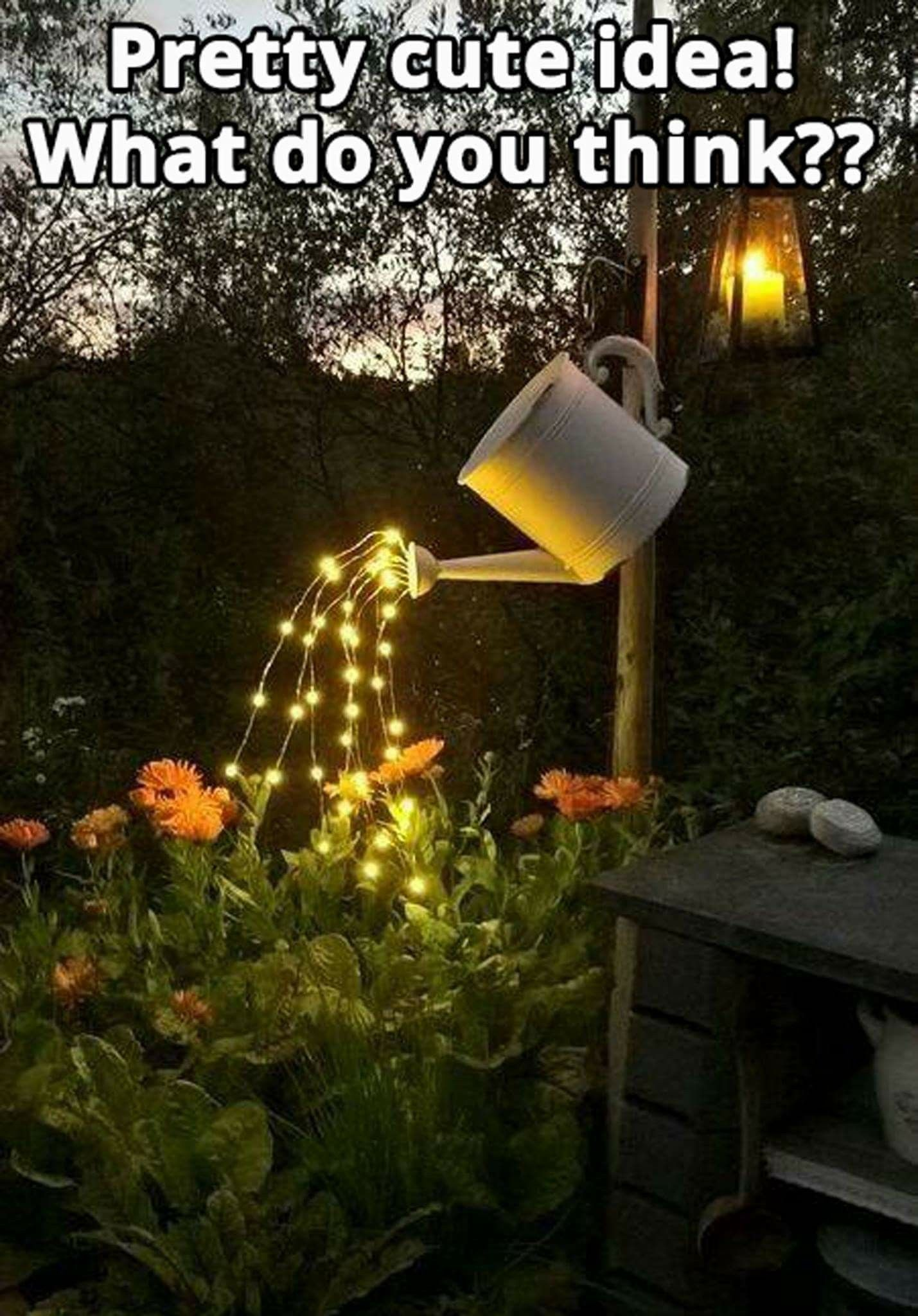 Love this waterfall lights solar lights garden can lights