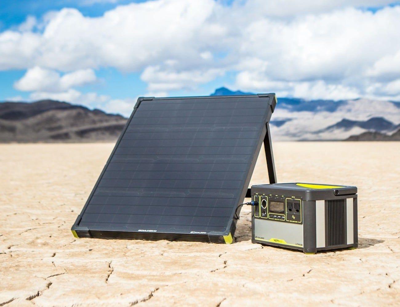 Goal Zero Boulder 50 Watt Solar Panel With Images Solar Panels Best Solar Panels Solar Generator