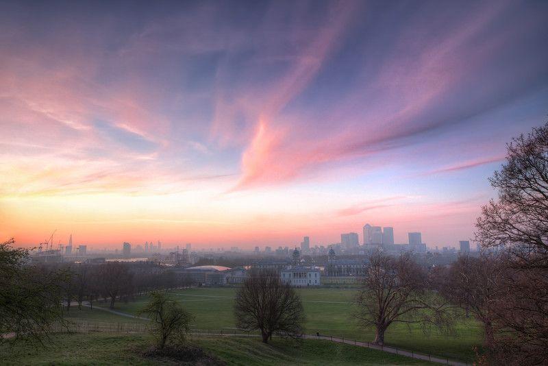"""The Lavender Skies of London"", via http://thefella.com/blog/the-lavender-skies-of-london"