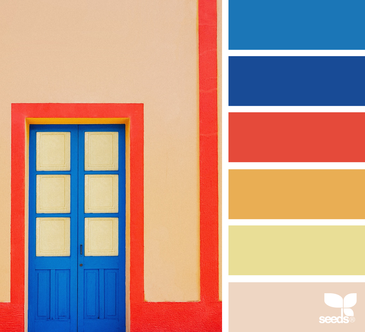 A Door Hues Design seeds, Bauhaus colors, Color balance