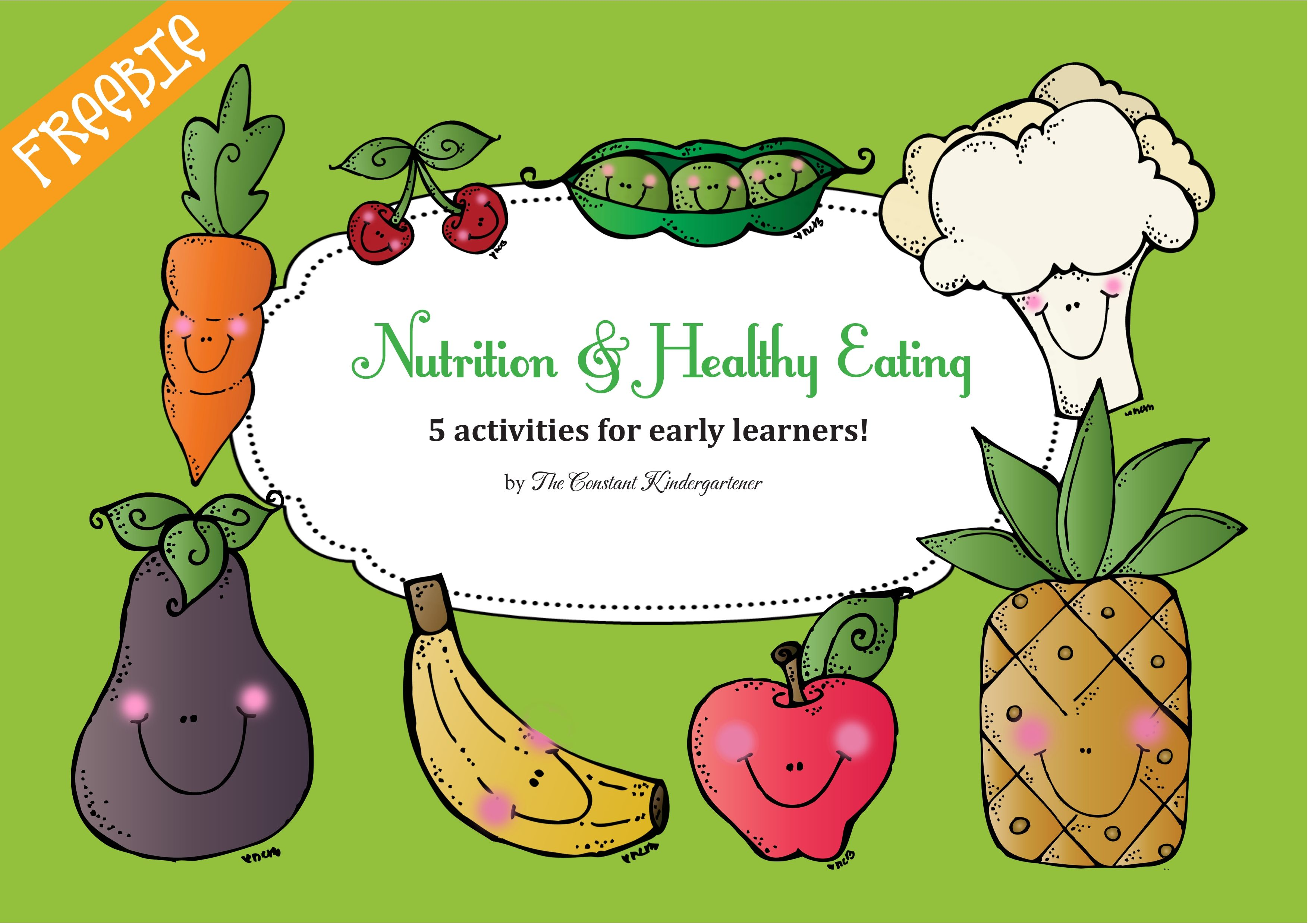 Nutrition and Healthy Eating Activities for Pre-k and Kindergarten ...