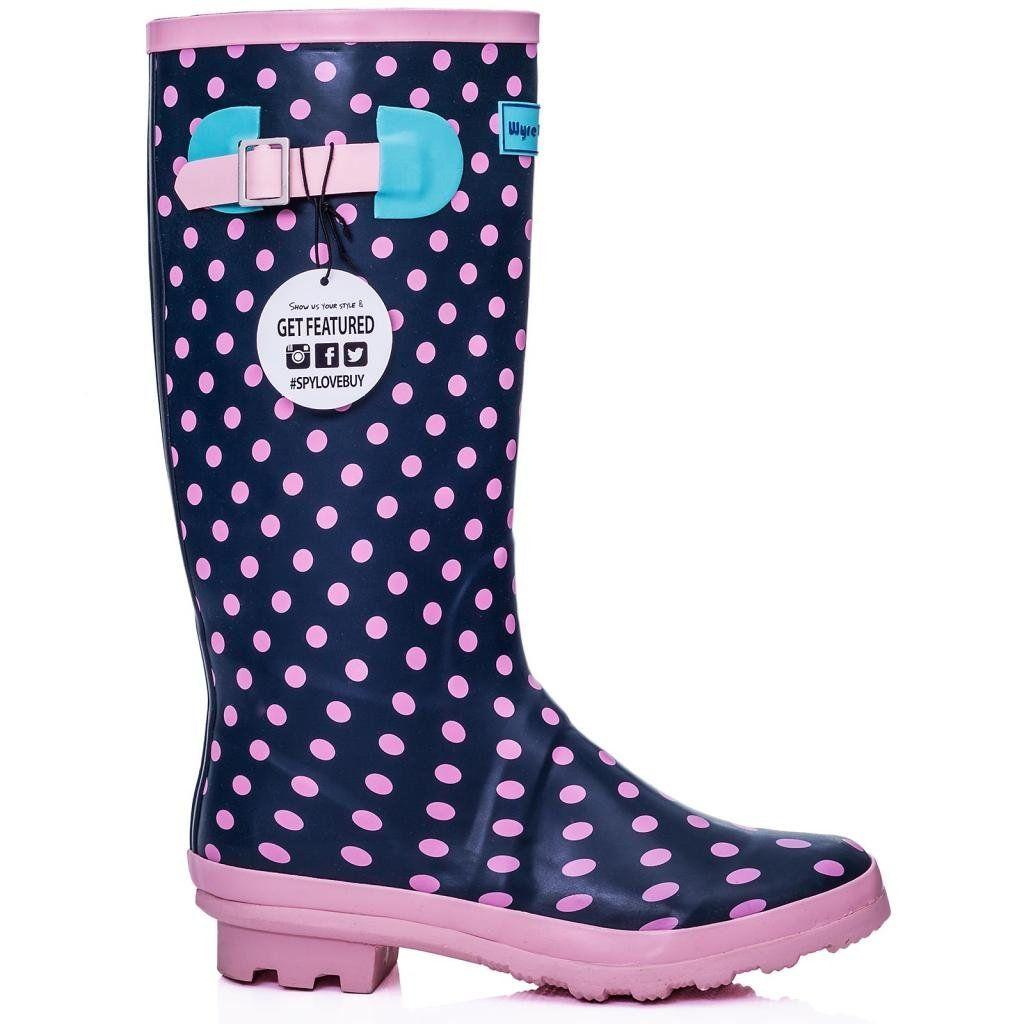 Amazoncom SPYLOVEBUY KARLIE Flat Festival Wellies Wellington Knee High  Rain Boots Clothing
