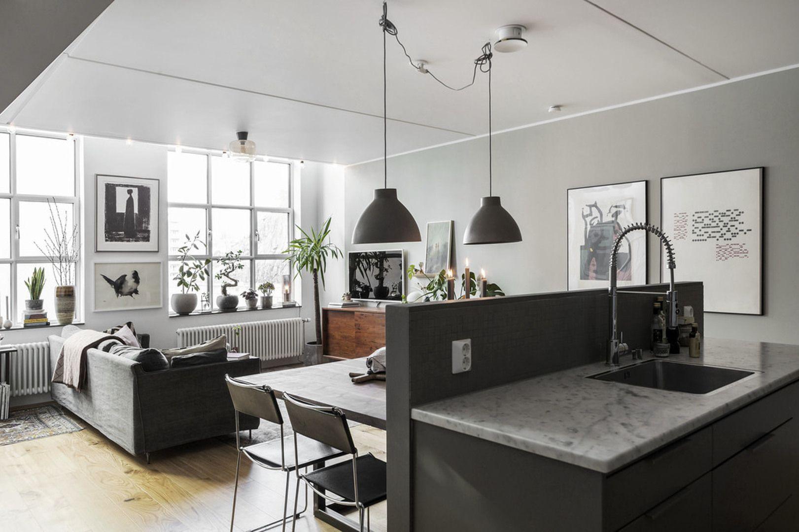 Cucina aperta sul soggiorno | SOGGIORNO | Pinterest | Soggiorno ...