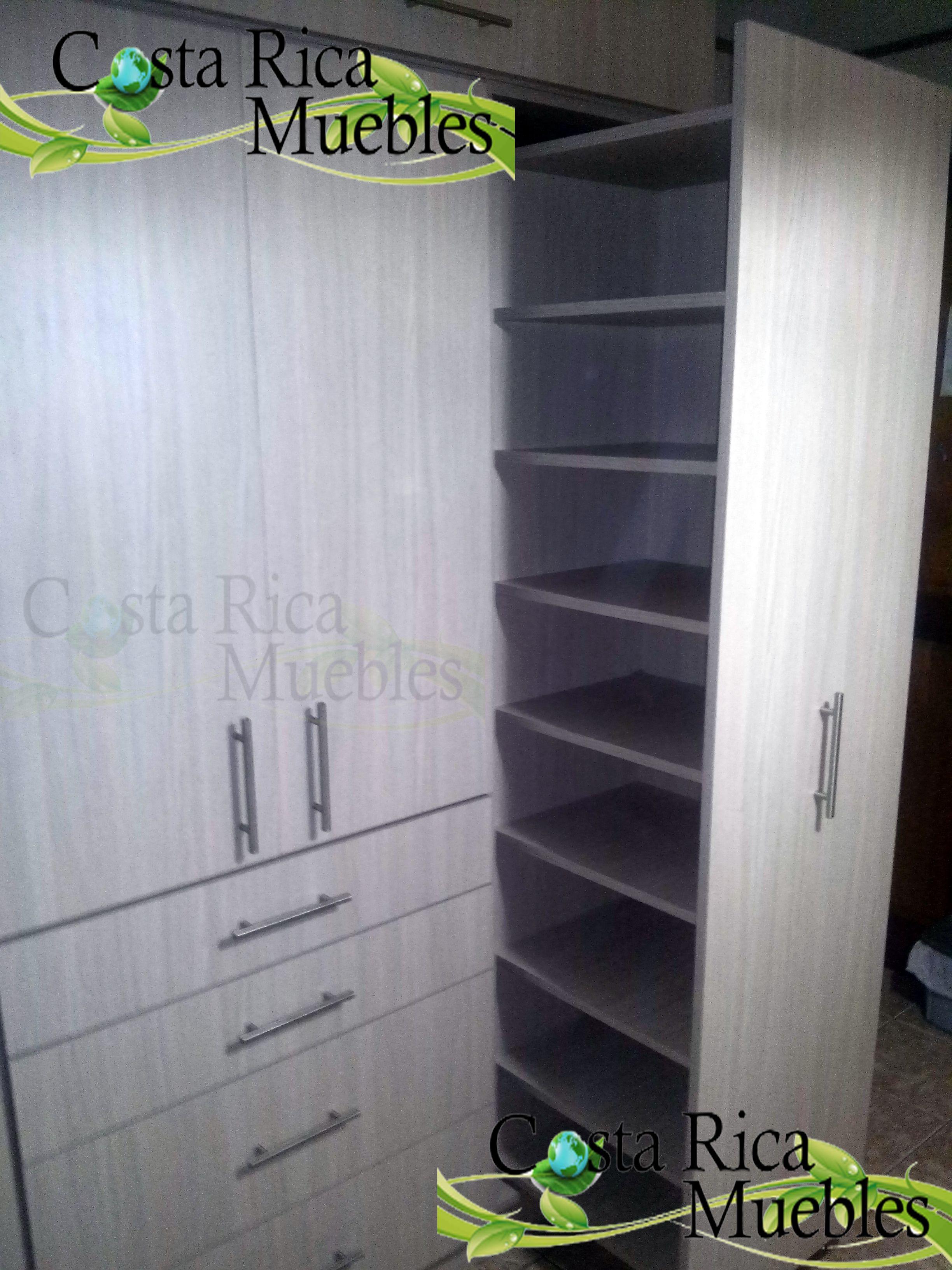 Closet Melamina Módulos Laterales Extraíbles Herraje