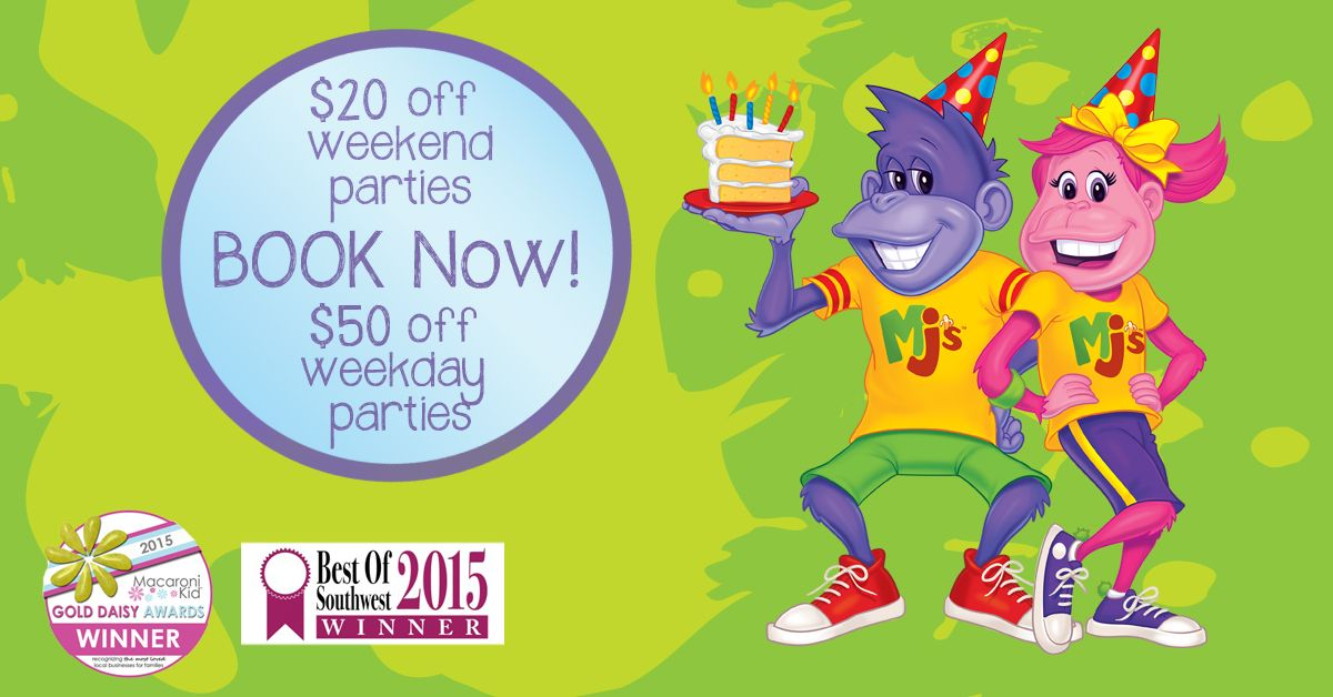 picture regarding Monkey Joes Coupons Printable titled Birthday bash savings at Monkey Joes! Birthday Bash