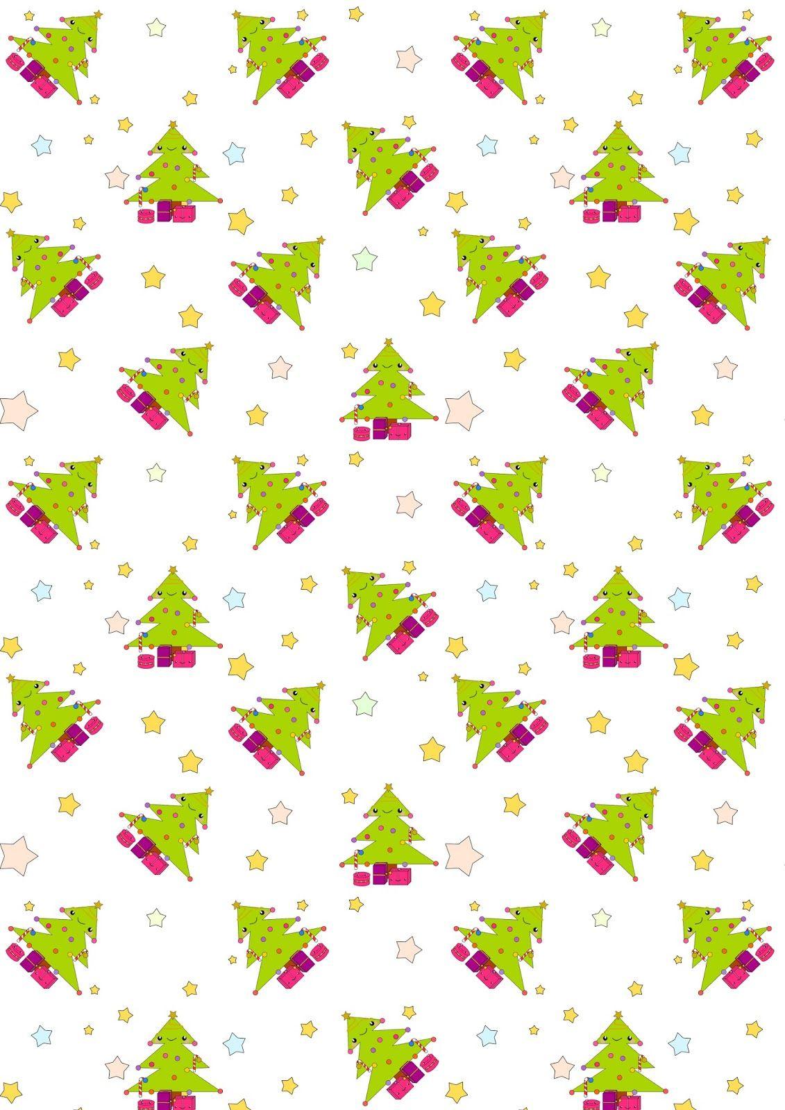 Free digital Christmas scrapbooking paper kawaii - ausdruckberes ...