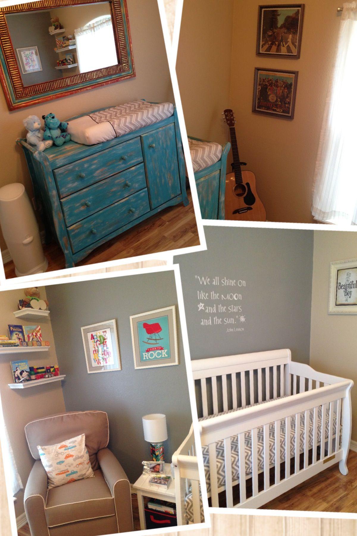 Baby Boy Nursery Love This Distressed Blue Dresser